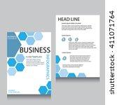vector brochure flyer design... | Shutterstock .eps vector #411071764