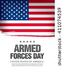 armed forces day template... | Shutterstock .eps vector #411074539