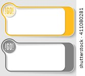 two vector text boxes for your... | Shutterstock .eps vector #411080281