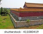 chinese ancient architectural... | Shutterstock . vector #411080419