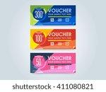 gift voucher template with a...   Shutterstock .eps vector #411080821