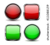 glass buttons. set of red and... | Shutterstock . vector #411088159