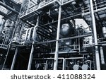 oil and gas installations ...   Shutterstock . vector #411088324