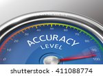 accuracy level conceptual 3d... | Shutterstock .eps vector #411088774