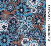 seamless pattern texture.... | Shutterstock .eps vector #411091891