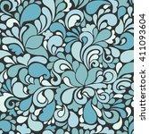 seamless ornament pattern.... | Shutterstock .eps vector #411093604