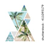 abstract summer background.... | Shutterstock . vector #411095179