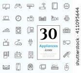 set of household appliances... | Shutterstock .eps vector #411095644