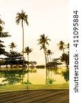 beautiful silhouette luxury... | Shutterstock . vector #411095884