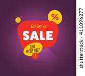 special offer sale tag discount ... | Shutterstock .eps vector #411096277