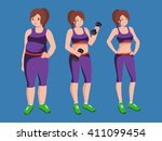isolated weight loss white...   Shutterstock .eps vector #411099454