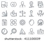 business icon set suitable for... | Shutterstock .eps vector #411100039