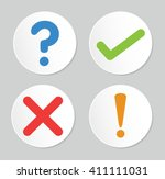 a set of four simple web... | Shutterstock .eps vector #411111031