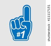 number 1 fan | Shutterstock .eps vector #411117151