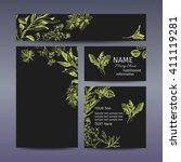 corporate style   herbs. vector ... | Shutterstock .eps vector #411119281