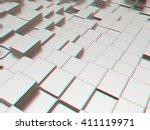 metall urban background . 3d... | Shutterstock . vector #411119971