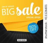 vector flat sale banner... | Shutterstock .eps vector #411126601