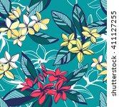 vector illustration tropical... | Shutterstock .eps vector #411127255