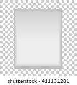 blank sachet  | Shutterstock .eps vector #411131281