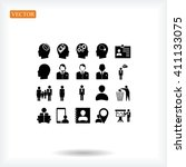business man icons | Shutterstock .eps vector #411133075