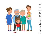 vector illustration of happy... | Shutterstock .eps vector #411134044