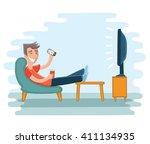 vector illustration of man... | Shutterstock .eps vector #411134935