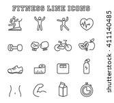 fitness line icons  mono vector ... | Shutterstock .eps vector #411140485
