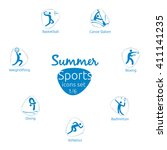 Summer Sports Icons Set  1 Of ...