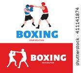 vector logo boxing. logo in the ... | Shutterstock .eps vector #411141874
