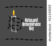 holocaust remembrance day.... | Shutterstock .eps vector #411143035