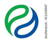 balance logo vector. | Shutterstock .eps vector #411143047