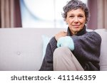 portrait of smiling mature... | Shutterstock . vector #411146359