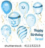 happy birthday  israel.... | Shutterstock .eps vector #411152215