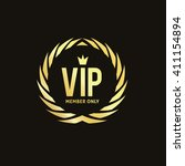 vip luxury logo template | Shutterstock .eps vector #411154894