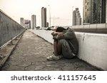 men who despair of finding a... | Shutterstock . vector #411157645