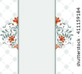invitation card with floral... | Shutterstock . vector #411159184