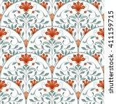 seamless oriental pattern.... | Shutterstock . vector #411159715