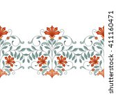 seamless border with oriental... | Shutterstock . vector #411160471
