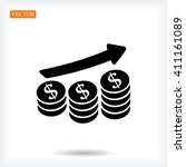 money icon | Shutterstock .eps vector #411161089