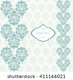 vector damask classic ornament... | Shutterstock .eps vector #411166021