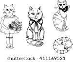 cats | Shutterstock .eps vector #411169531
