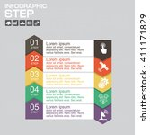 infographics template for... | Shutterstock .eps vector #411171829