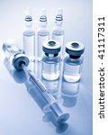 medicine vials and syringe | Shutterstock . vector #41117311