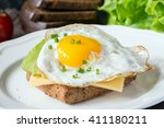 Fried Egg  Avocado And Cheese...
