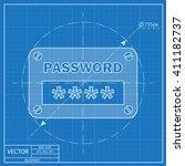 password input ui window....