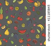 vector seamless pattern with... | Shutterstock .eps vector #411185845