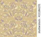 watercolor painting   pattern... | Shutterstock .eps vector #411186151