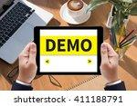 demo  demo preview trailer... | Shutterstock . vector #411188791