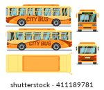 urban  city bus in different... | Shutterstock .eps vector #411189781