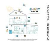 smart house technology system... | Shutterstock .eps vector #411189787
